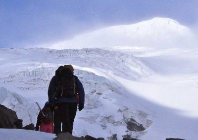Bergsteigen Auf den Cayambe